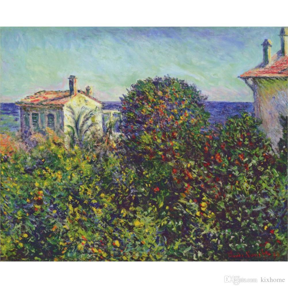 Hand painted Claude Monet oil paintings canvas Bordighera, the House of Gardener modern art Landscape wall decor