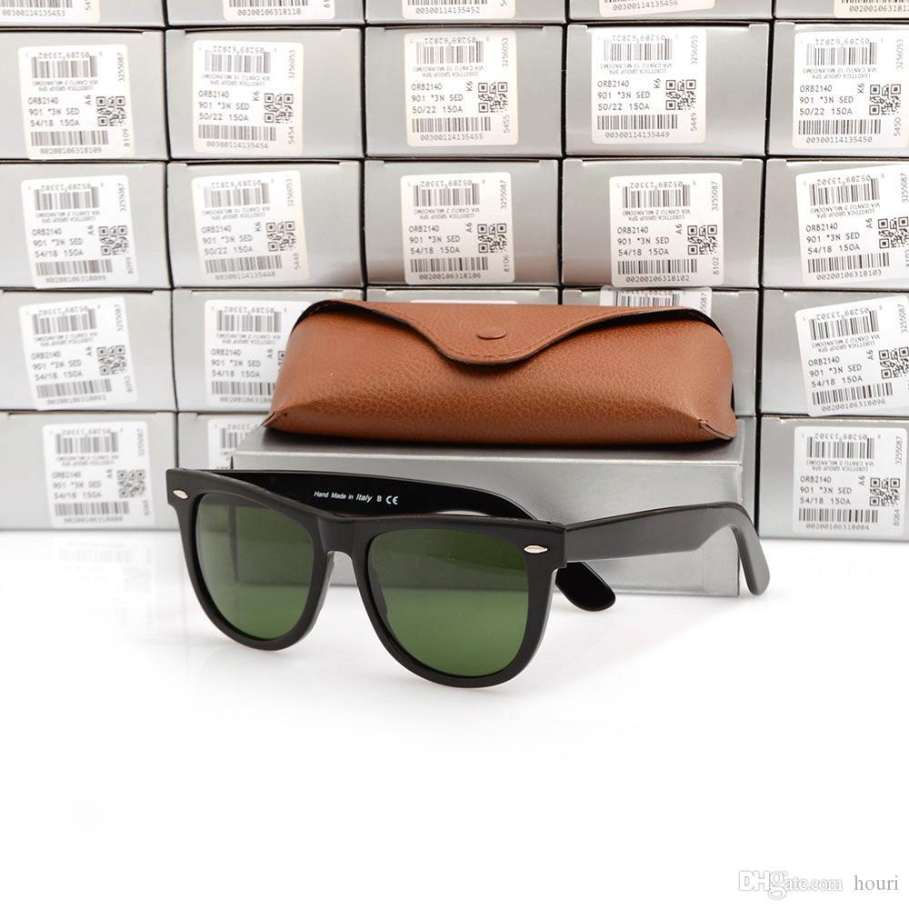Freies verschiffen 2140 sonnenbrillen grüne linse gläser hochwertige planke schwarz sonnenbrille glaslinse schwarz sonnenbrille marke designer