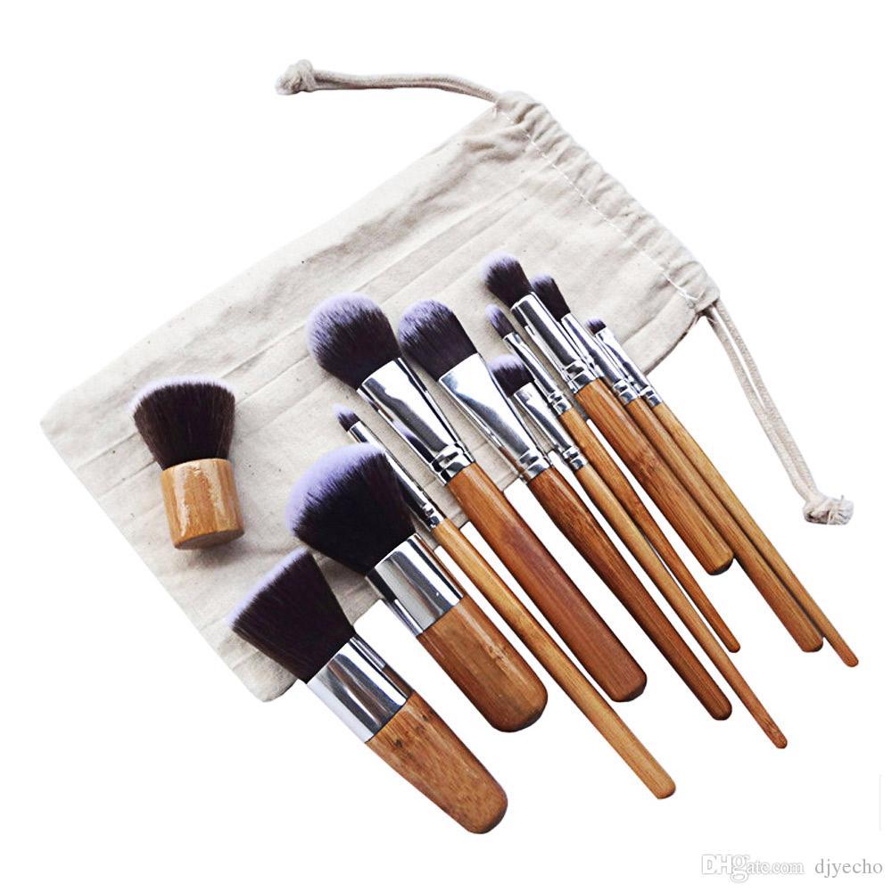 YENI 11 adet Profesyonel Çok Fonksiyonlu Kozmetik Makyaj Pudra Fondöten Kapatıcı Aracı Bitirme Fırçaları ILE Şık Güzellik Kiti Kılıfı Çanta