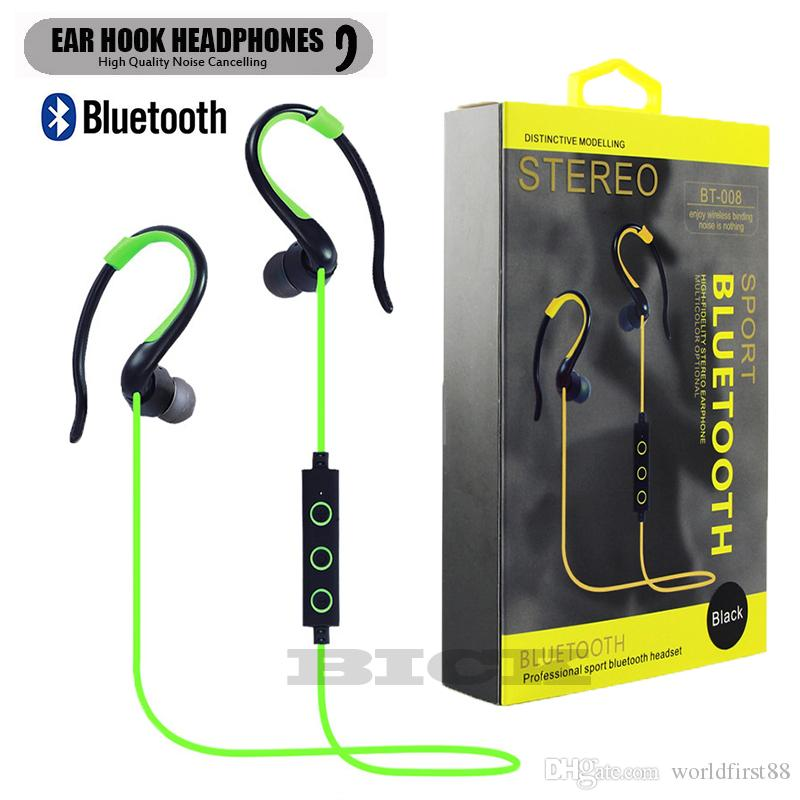 Bluetooth Headphones In Ear Wireless Headphones Sports Earphones Ear Hook Headphones With Microphone Noise Cancelling Headset Bluetooth Headset Headset From Worldfirst88 6 84 Dhgate Com