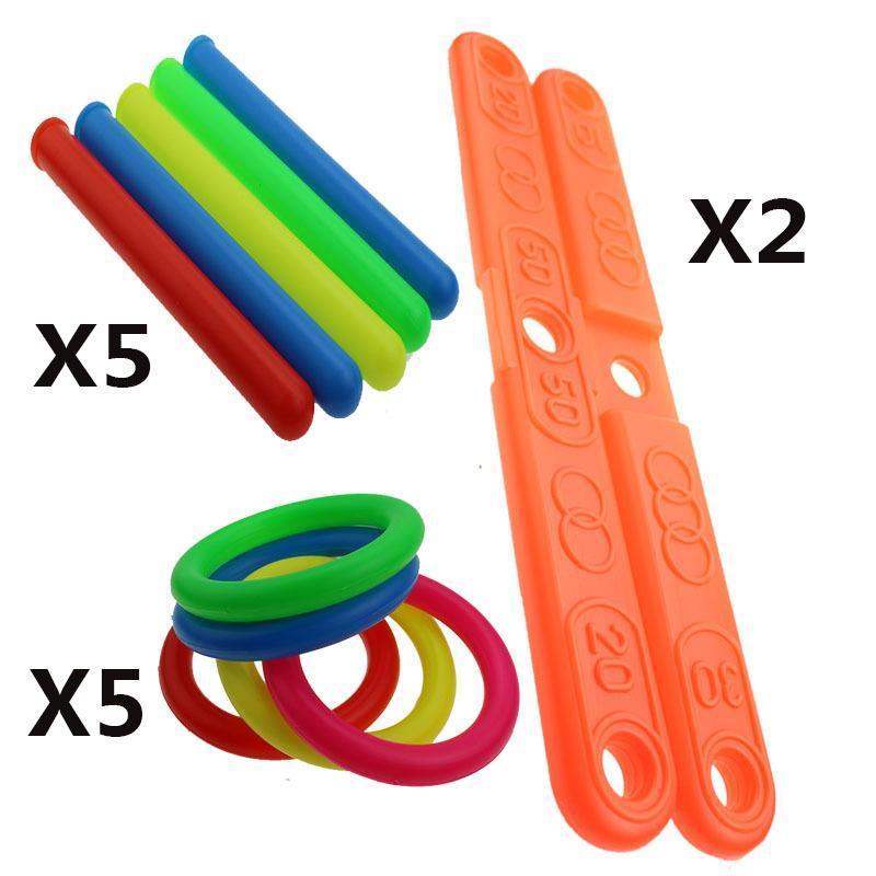 Baby Kids Boys Girl Funny Outdoor Garden Game Hoop Ring Toss Quoits Toy Set Gift