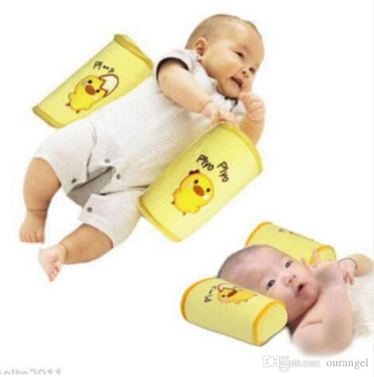Cute Infant Baby Toddler Safe Cotton Anti Roll Pillow - Sleep Flat Head Positioner Newborn Baby Pillows