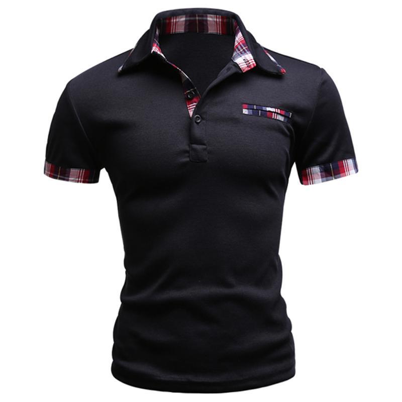Fashion Brand Men Polo Shirt Solid Short -Sleeve Slim Fit Polo Mens Embroided Shirt Men Polo Shirts Casual Camisa Polos F1