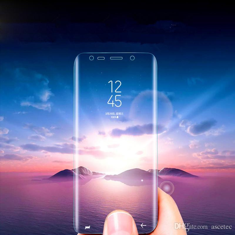 Für Samsung Galaxy Note9 S9 + S7 Edge-S6 S8 Plus-Note 8 9 Schirm-Schutz-Haustier-Film Full Cover (nicht gehärtetes Glas) 3D gebogene Kante