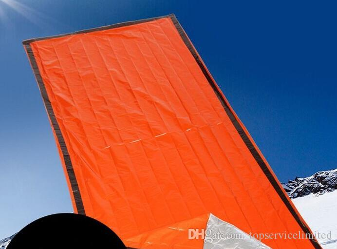 200pcs/lot 213 * 91cm Outdoor emergency blanket Waterproof Wind Resistant Foil Thermal First Aid Travel Survival Kit