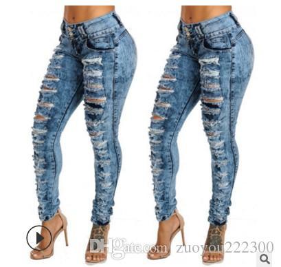Para a qualidade de Penghao transfronteiriça Jade cintura cintura e jeans apertados negócios de comércio exterior