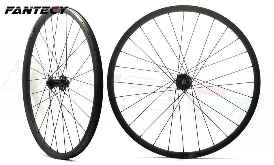 FANTECY 무료 배송 29 인치 자전거 MTB 자전거 DH 자전거 탄소 바퀴 자전거 훅이없는 29er 산악 자전거 바퀴 40mm 너비 30mm 깊이