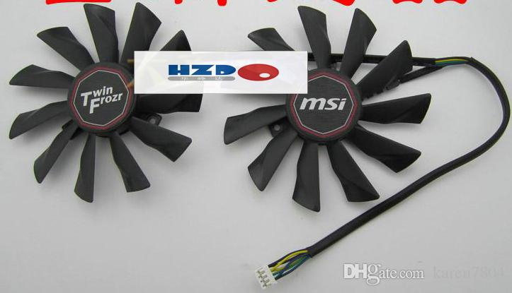 Original novo MSI R9-280X R9-270X R7-260X placa gráfica fã PLD10010S12HH
