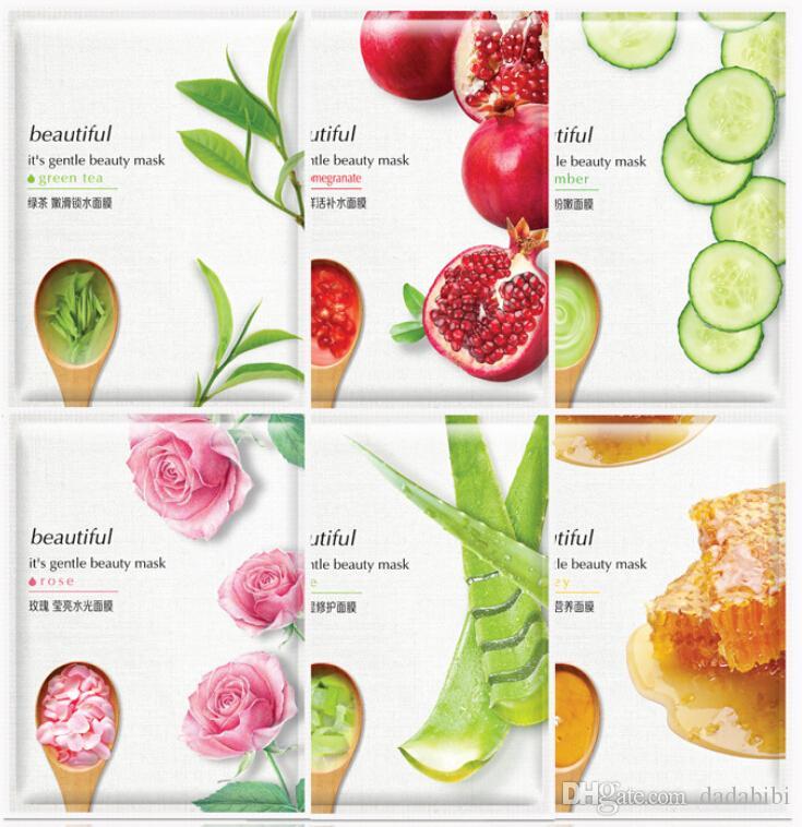 NEW HANKEY Masks Rose Honey Cucumber Moisturizing Replenishing water Moisture Nourish Oil control free shipping