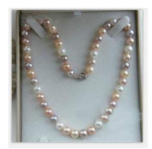 En gros 9-10mm naturel mer du Sud multicolore collier de perles 18 pouces S925 argent fermoir