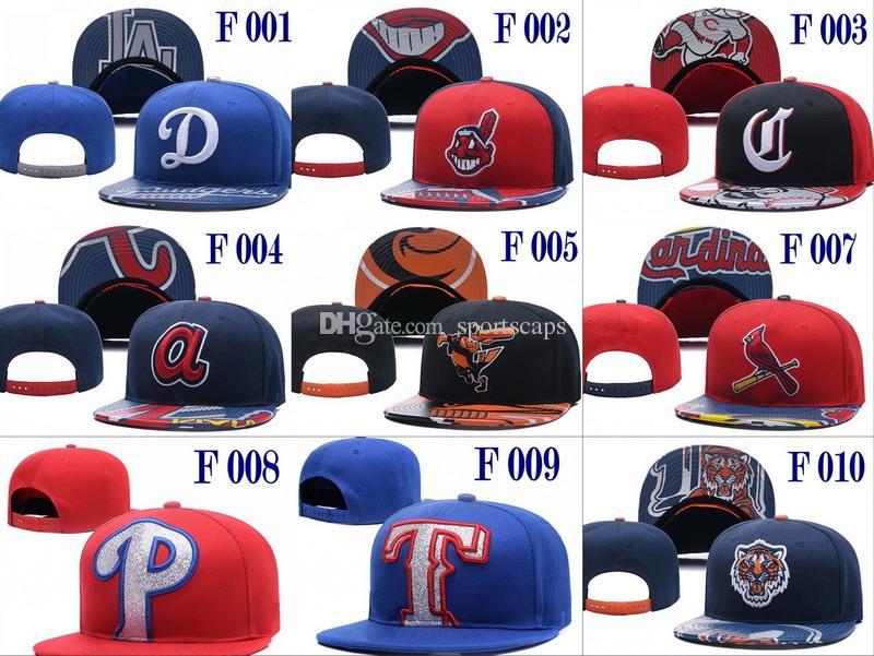 2018 Date Baseballl Snapback Chapeaux Équipe Couleur Casquettes Équipe Chapeaux Mélanger Match Ordre Tous Cap Top Qualité Chapeau En Gros