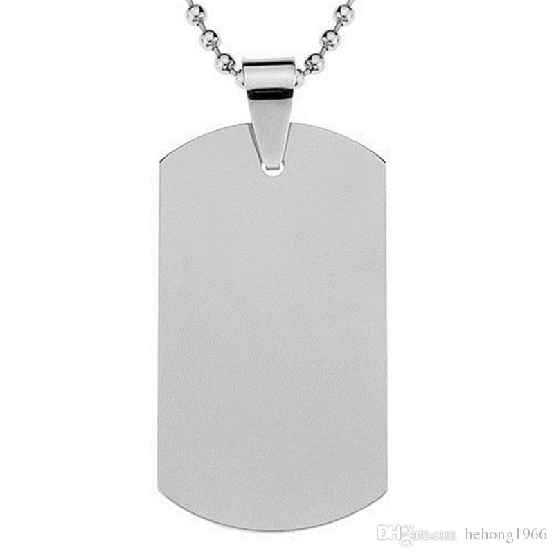 Stainless Steel Cat Dog Tag Casual Military Shape Blank Military Cards High Hardness Pet Tags Hot Sale 2gg BB