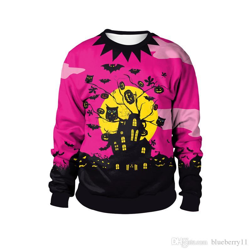 Costumi di Halloween Costumi Moda Nuovi vestiti colorati O Collo Felpe con cappuccio Felpe con cappuccio M-2XL
