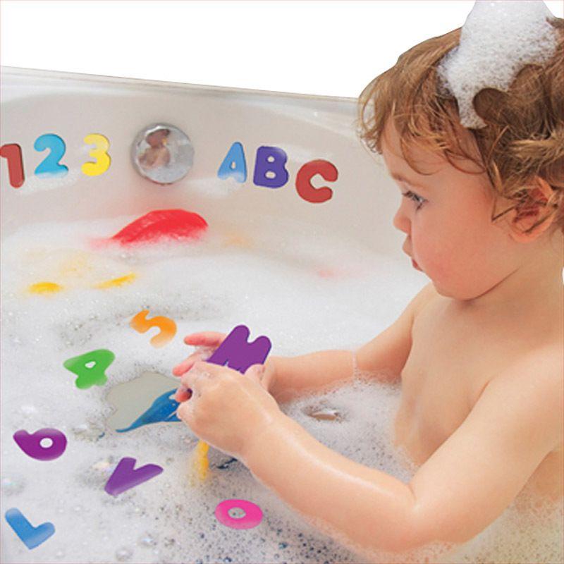 Дети Детские игрушки для ванны Дети плавающей пены воды игрушки классические игрушки образовательные 36 шт. / компл. (26 букв + 10 цифр ) игрушка