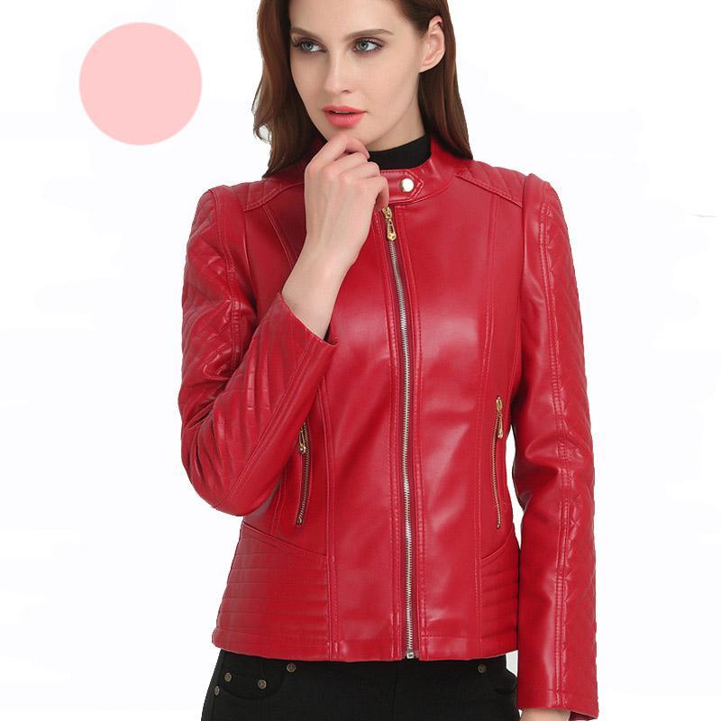 cbd37d579 Winter Autumn Mother Women Red Faux Leather Jacket Coat, Motorcycle Jacket  Slim Leather England Style UK 2019 From Wulana, UK $&Price; | DHgate UK