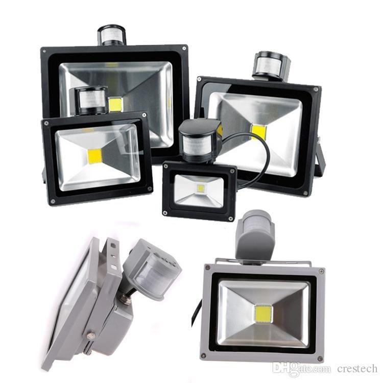 LED Outdoor Light Infared PIR flood light Sensor waterproof IP65 10W 20W 20W 30W 50W Led PIR Motion LED outdoor lighting wall