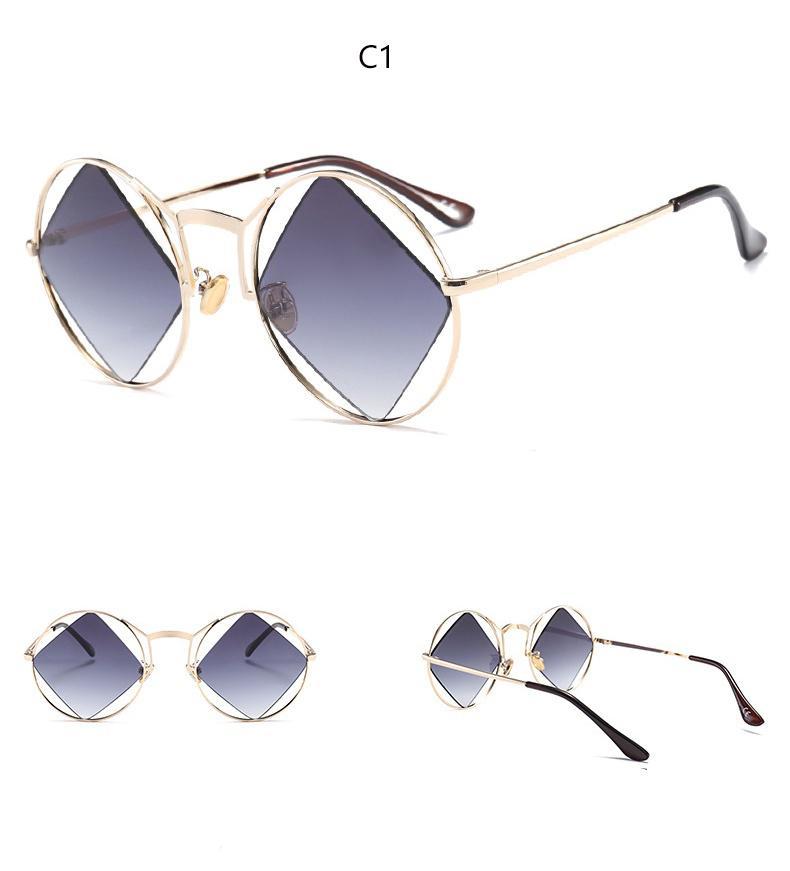 Damen-Mode-Quadrat Sonnenbrille Sonnenbrille Brauner Rahmen ss9lzfjmZ