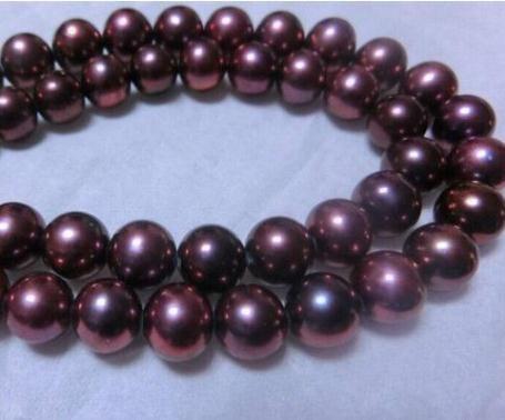 rosso collana di perle chiusura naturale a sud 8-9mm all'ingrosso del Mar Nero 18 pollici oro 14k