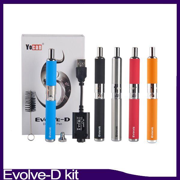 Evolve-D Starter Kit dry herb pen Vaporizer with Pancake Dual Coils 650mAh Battery ego thread atomizer 0268093-1