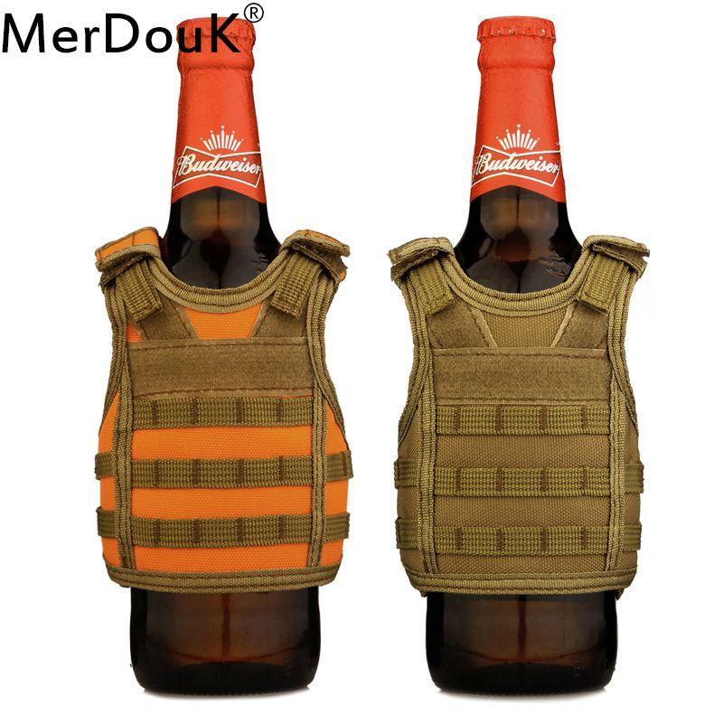 Taktische Westen Beer Molle Mini Miniatur Westen Getränkekühler Verstellbare Schultergurte