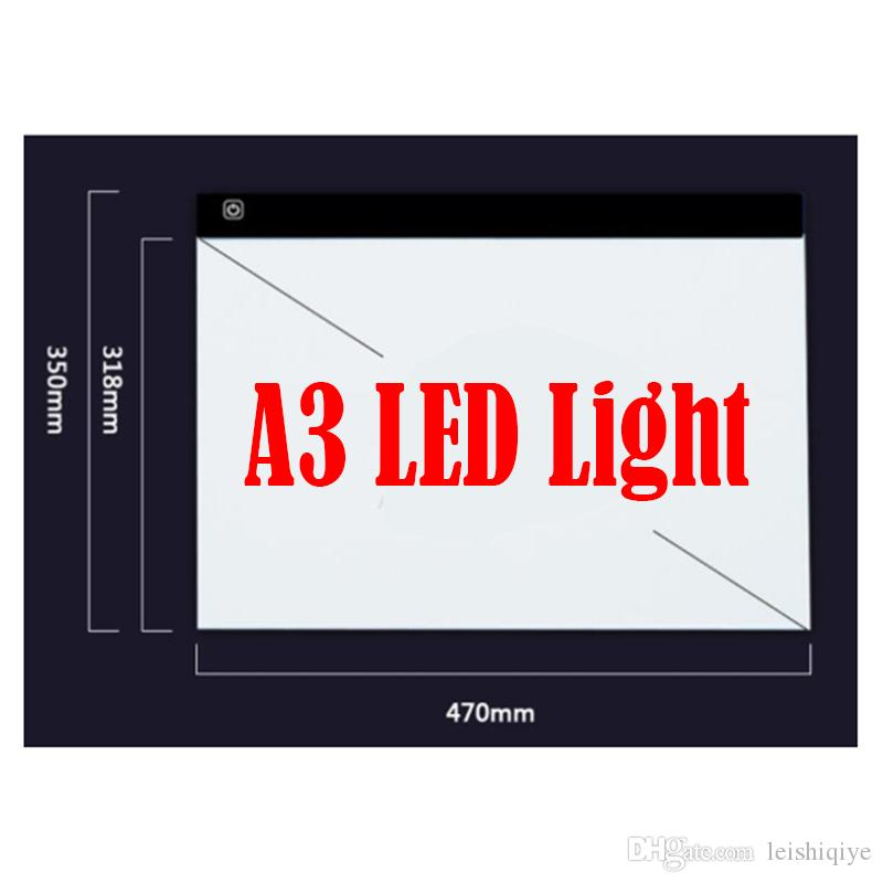 new Diamond Painting Stitch Dimmable Ultra Thin A3 LED Light Tablet Pad Apply to USB Plug Embroidery Needlework Mosaic Tools