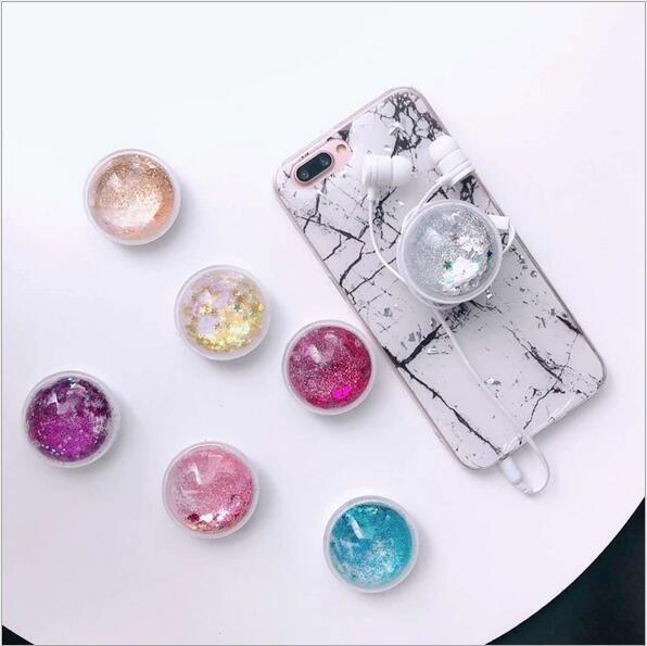 Titular universal do telefone celular universal 360 graus quicksand glitter titulares telefone grip para iphone montagens de anel de dedo com caixa de varejo