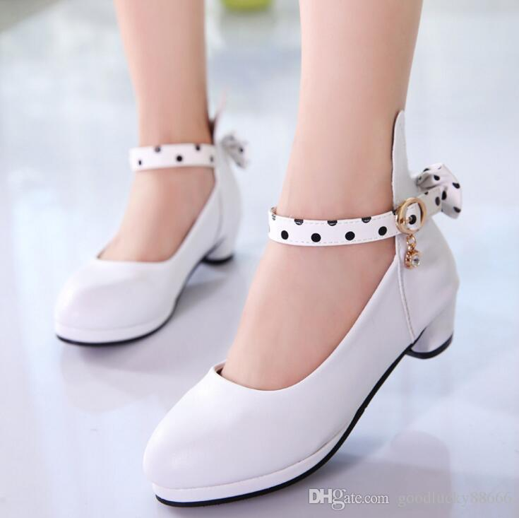 Exquisite Bow Girl PU Leather Shoes For