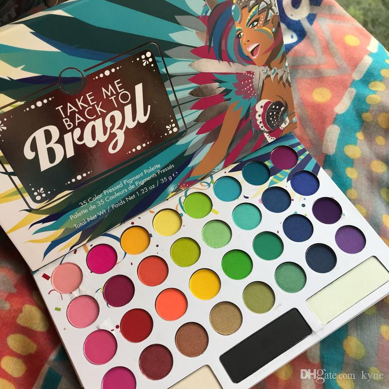 2019 New Arrival 35 Color TAKE ME BACK TO BRAZIL EyeShadow Palette Free DHL