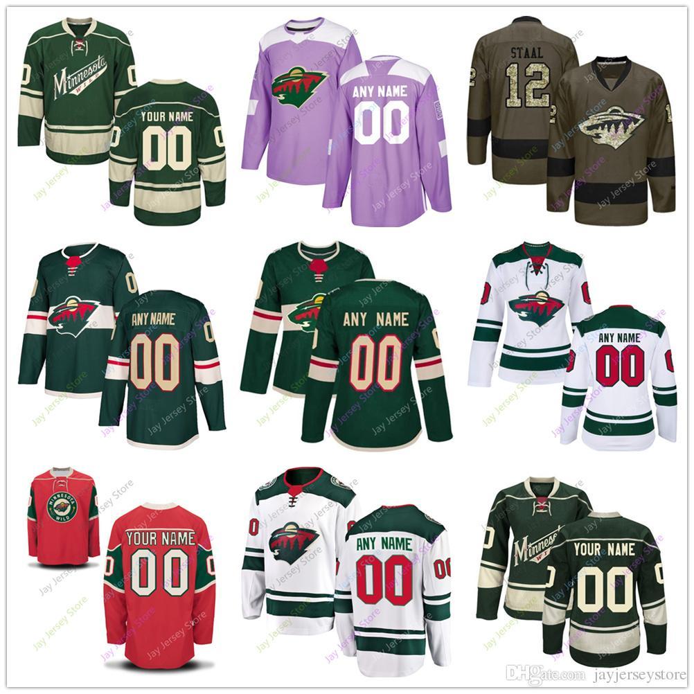 86edc248343 Custom Jersey 2019 Men Women Youth Kid Winter Classic Minnesota Wild Salute  to Service