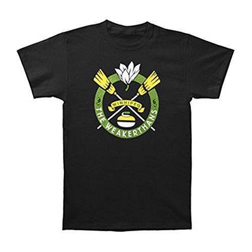 T-shirts d'été T-shirt à manches courtes Weakerthans T-shirt à manches courtes Curling Slim Homme Noir