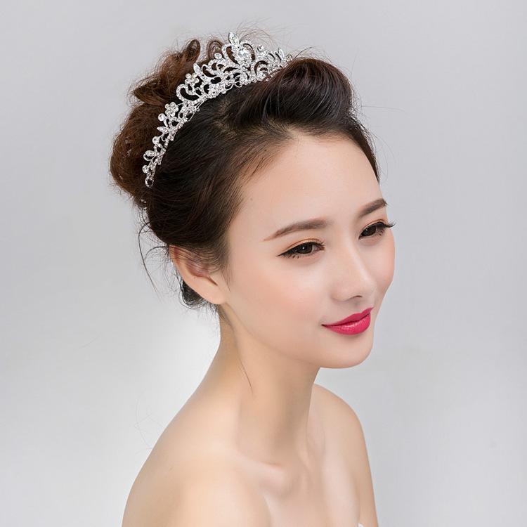 Ornamenti da sposa sposa corona principessa corona acqua trapano copricapo corona principessa