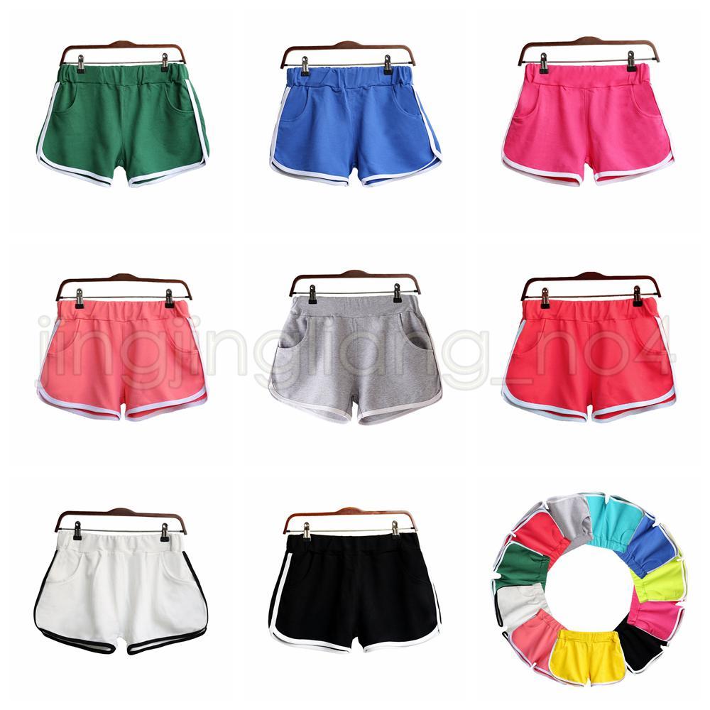 8 cores de algodão Mulheres Yoga Pants Esporte Shorts Gym Homewear aptidão do verão Shorts Praia exercício de corrida Calças AAA598 10pcs