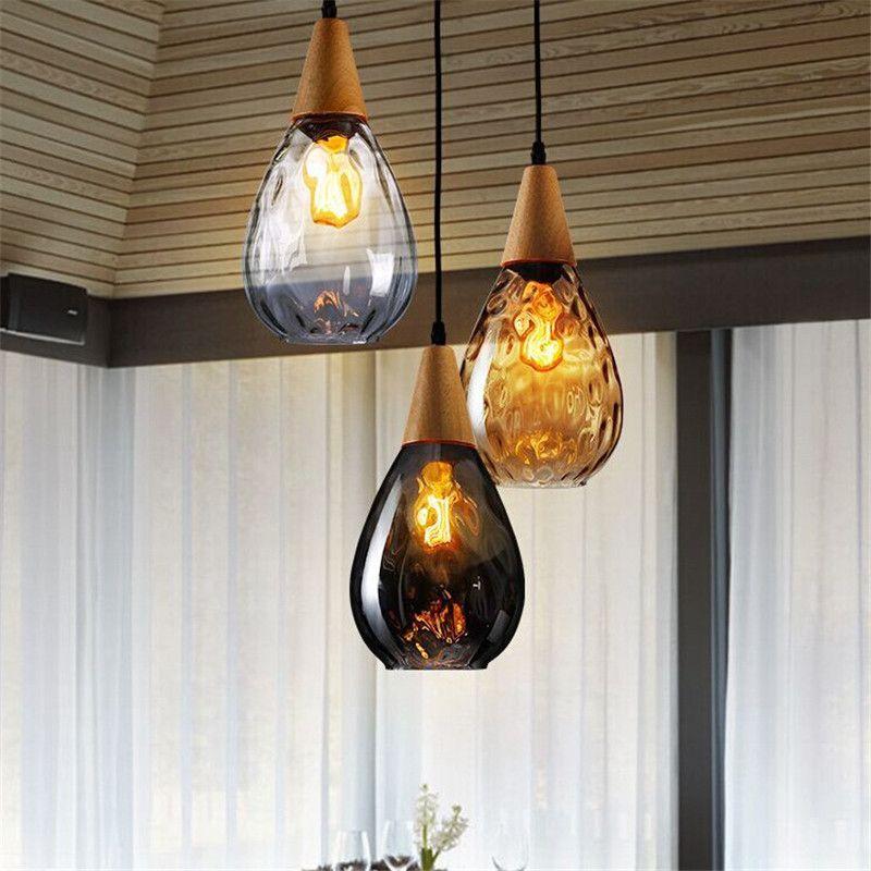 Американская страна подвесной светильник из массива дерева лофт стекло творческий ресторан свет бар простой флакон духов висит свет