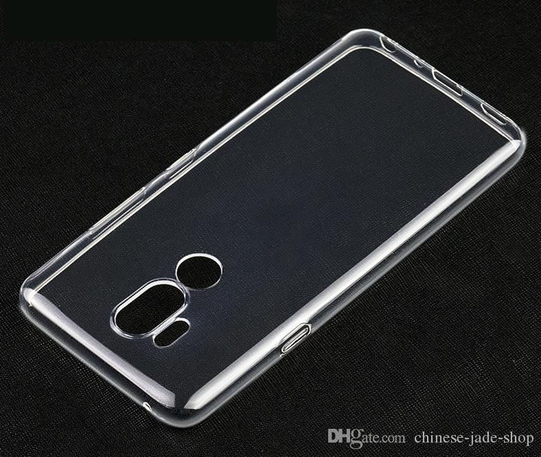 1.0mm Crystal Clear Soft TPU Case Cover voor LG Q6 Q7 Q8 V30 V40 G5 G6 G7 100 stks