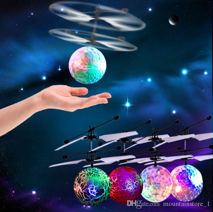 Newly Flying Ball Helicopter RC Flying Ball Drone Helicopter Ball Built-in Shinning LED Lighting Flying Toys for Kids
