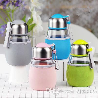 Bella tazza di vetro prontamente creativa con filtro Le coppie di studenti portatili Soggiorno con coperchio in vetro Meng Cup 400ML regali portauova