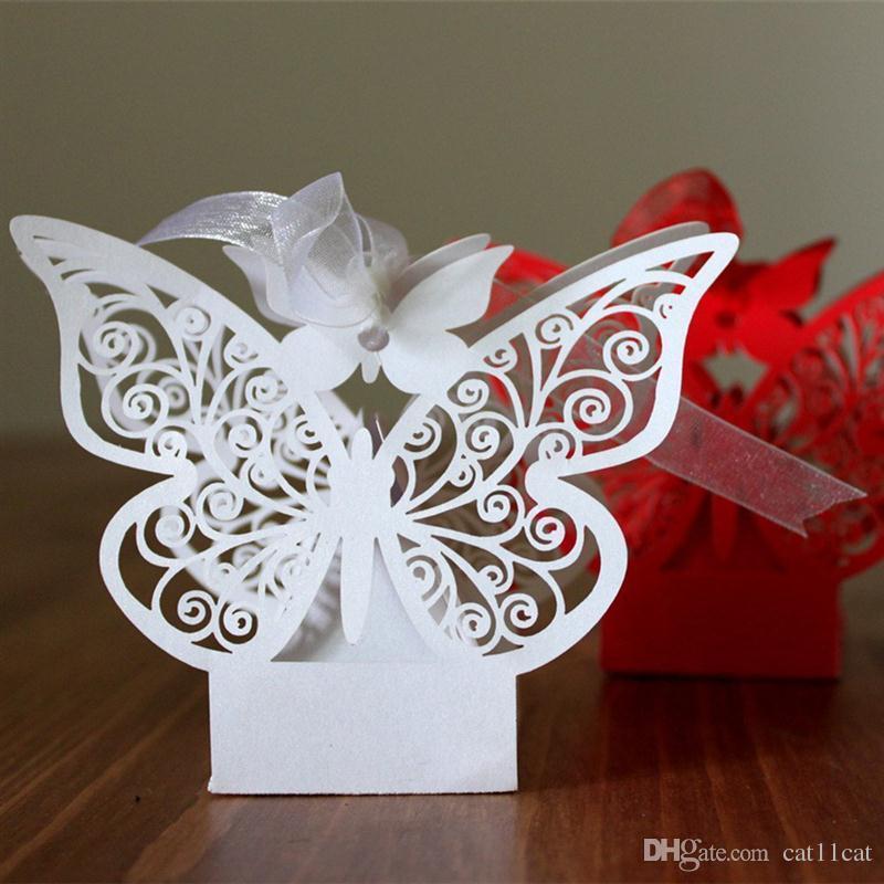 Kelebek Tarzı Düğün Favor Şeker Kutuları