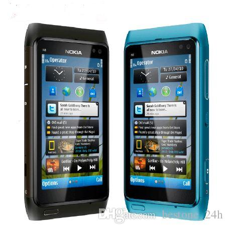 "Original Unlocked Nokia N8 Mobile Phone 3G WIFI GPS 12MP Camera 3.5"" Screen 16GB Storage cheap phone"