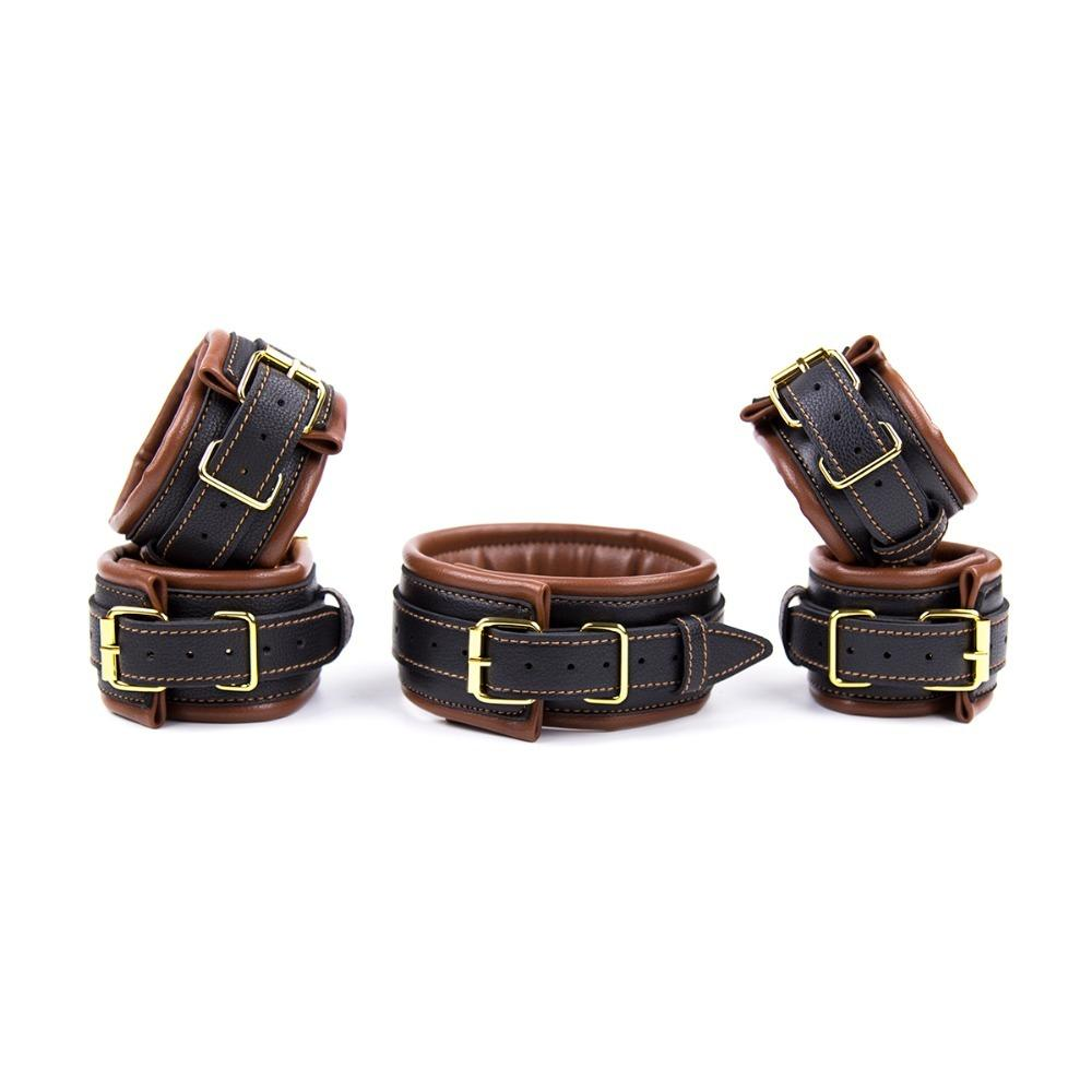 2017 New bondage set leather slave collar bdsm+s for sex adult sex toys for couples fetish bondage Top quality products Y18100802