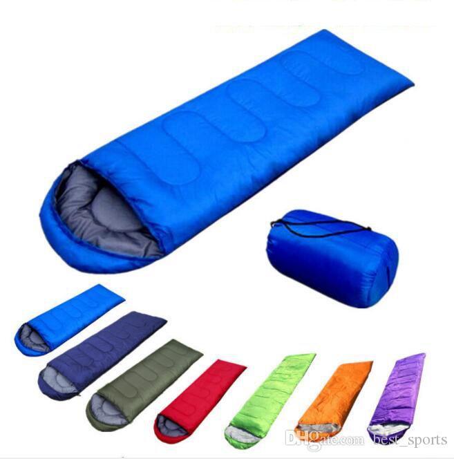 Bolsas de dormir al aire libre El calentamiento solo saco de dormir impermeables ocasionales Mantas Envelope Camping Transporte senderismo Mantas saco de dormir KKA1602