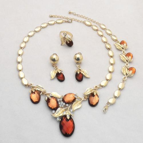 Europe and America fashion dinner, dress necklace, earrings, bracelet, wedding accessories, four sets of retail wholesale