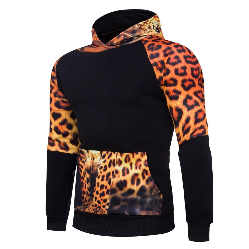 Slim Fit cool Jacket Mens' Winter Print Hoodie Hooded Pullover Sweatshirt Coat Outwear #0807