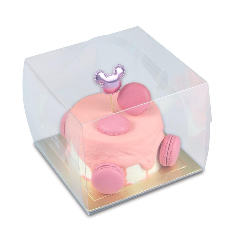 Cake Boxes 4inch Clear Plastic Transparent Cupcake Packaging Box Wedding Party Gift Box Cake Packaging Supplies