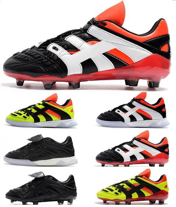 2021 Mens 98 Predator Accelerator tr FG Chaussures de football Coupe du Monde Bottes de football de la Coupe du Monde Électricité Trappe Sport Tarcles Botas de Futbol