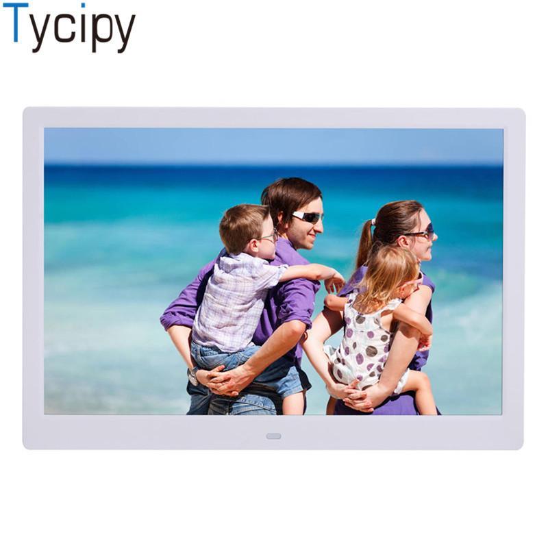 إطار صور رقمي بحجم 15 بوصة 1280 * 800 من Tycipy بشاشة LED إلكترونية لشاشة LCD مع جهاز التحكم عن بعد للموسيقى Mp3 Video Mp4