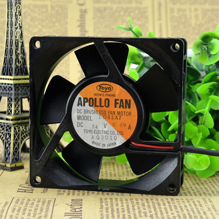For new APOLLO FAN TD92A7 24V 0.09A inverter cooling silent fan 2 line 2 years warranty