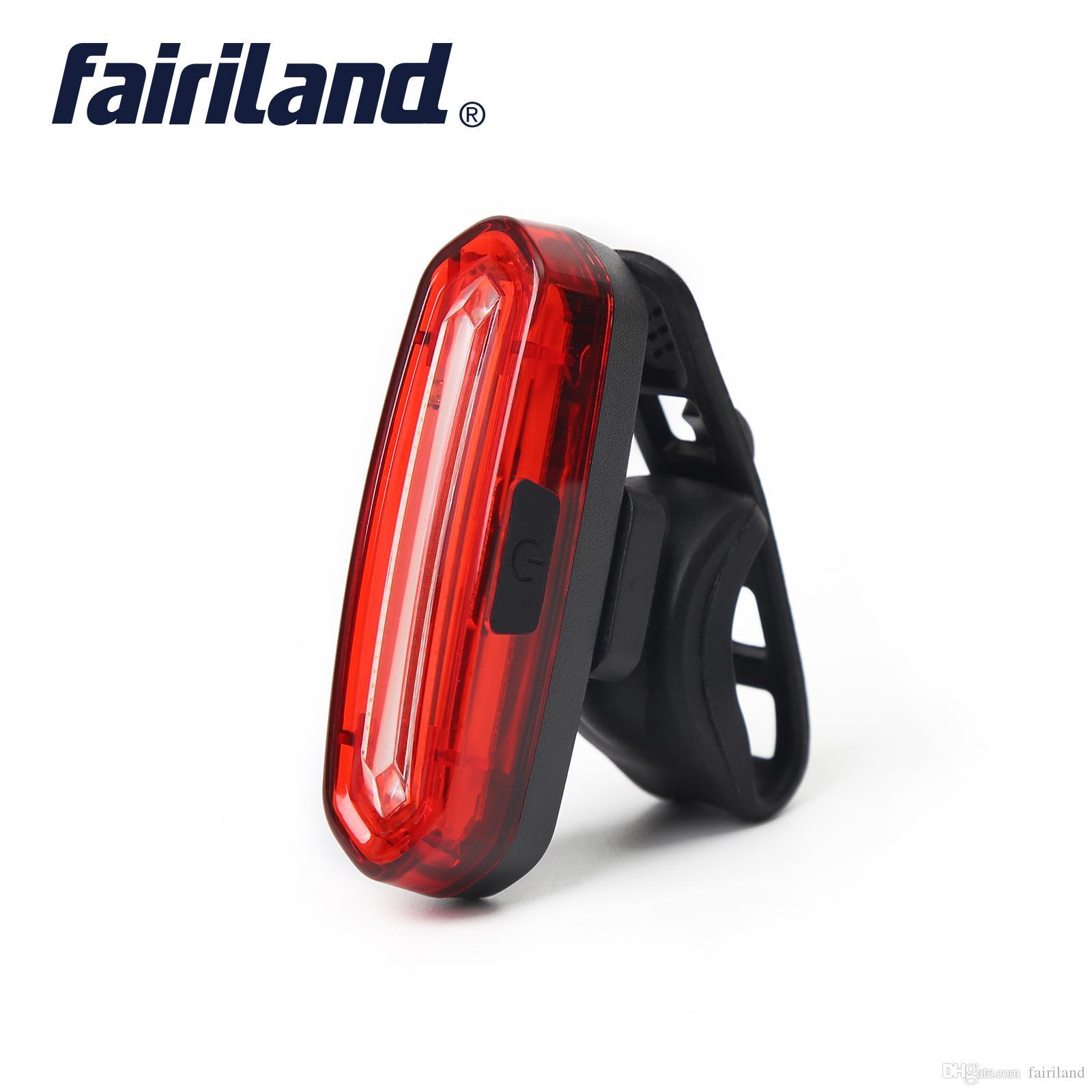 자전거 리어 라이트 COB 하이라이트 비즈 USB 충전식 600mAh Li 배터리 안전 경고 사이클링 꼬리 빛 방수 미등
