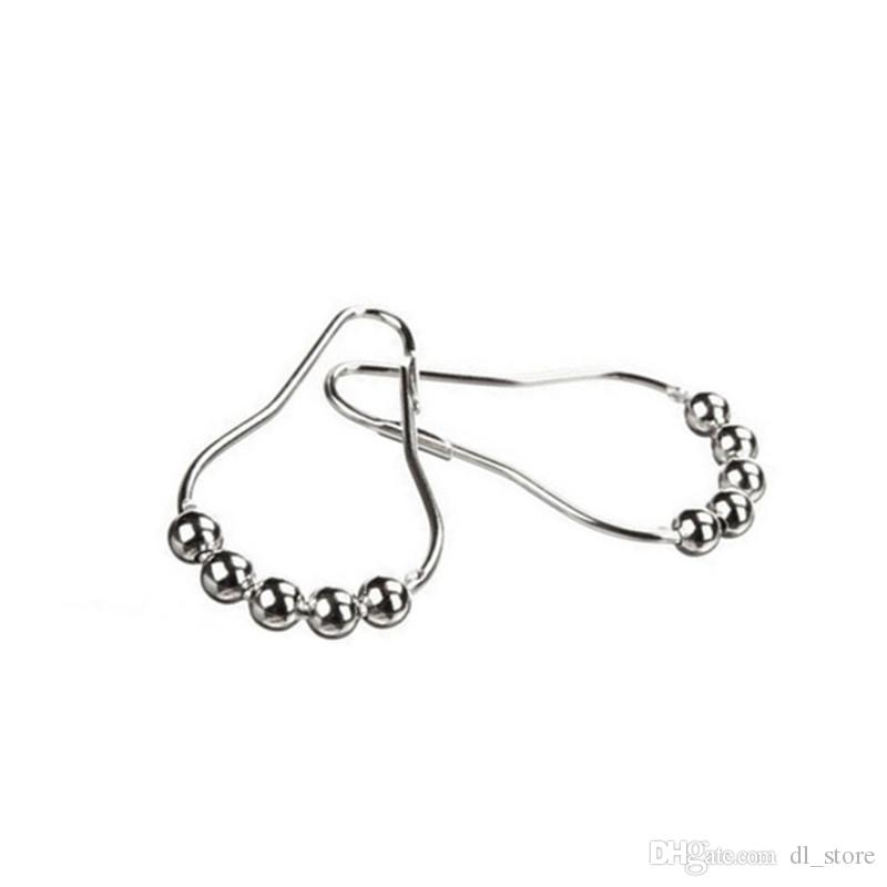 Curtain rollerball hooks Spec.70mm * 40mm barth Shower Curtain rings Household Bathroom Accessories DL_HTL009