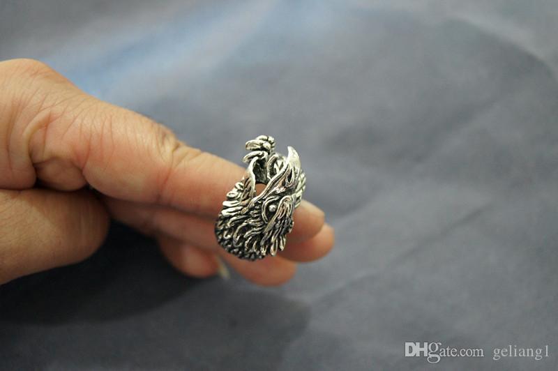 빈티지 청동 독수리 (pengcheng wan) 반지. 반지는 남자의 첫번째 선택이다.