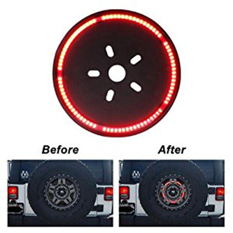 여분의 타이어 LED 램프 휠 후리 제 3 브레이크 장식 빛 지프 JK WRANGLER / OFFROAD LIGHT